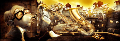 show original title on the roof 1 gurney-image of screen music comic fantasie Details about  /Alvez /& perez