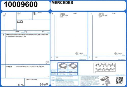 3.0 88 MB617.932 4x4 Cylinder Head Gasket Set Mercedes 300 GD 1976 -