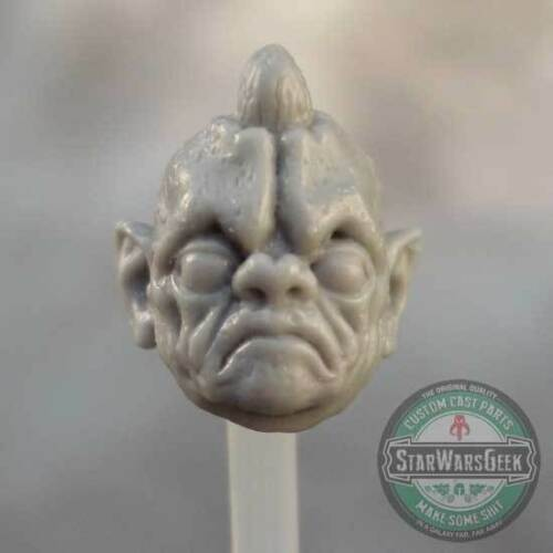 """MH038 Custom Cast Sculpt part Male head cast for use with 3.75/"""" action figures"""