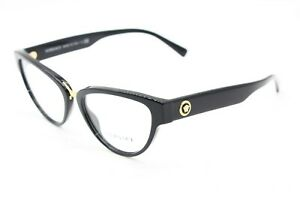 NEW-VERSACE-MOD-3267-GB1-BLACK-GOLD-AUTHENTIC-EYEGLASSES-RX-MOD-3267-53-17