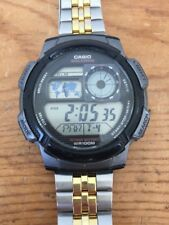 0865cea432c19 Casio 5 Alarms 3198 World Time WR100M Water Resistant Sport Wrist Watch Mens
