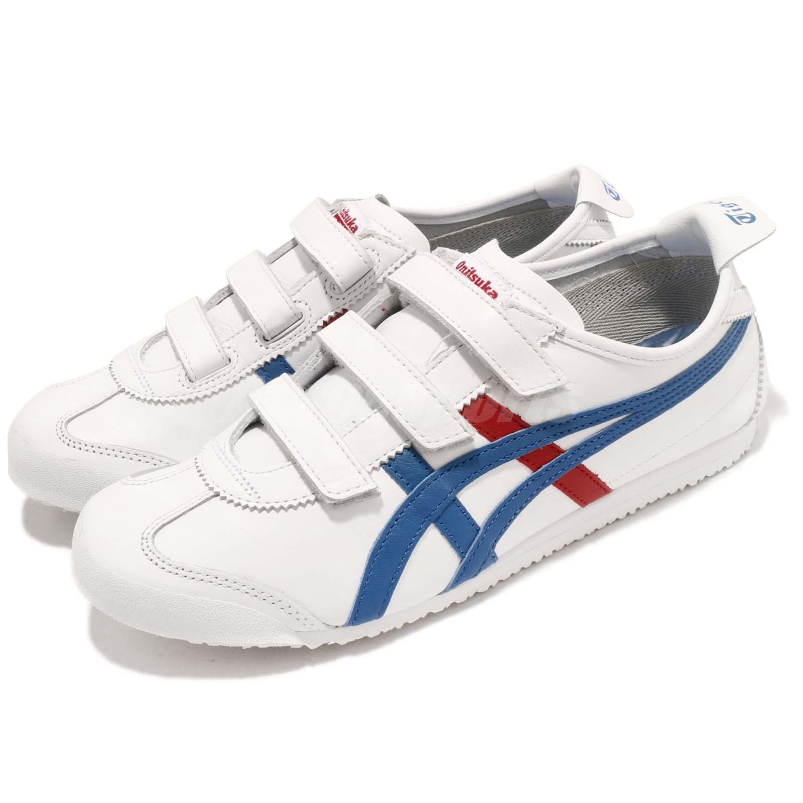 Asics Onitsuka Tiger Mexico 66 Baja White bluee Red Men Casual shoes HK4A1-0142