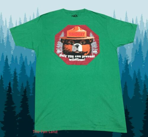 New Smokey The Bear Only You Can Prevent Wildfires Mens T-Shirt