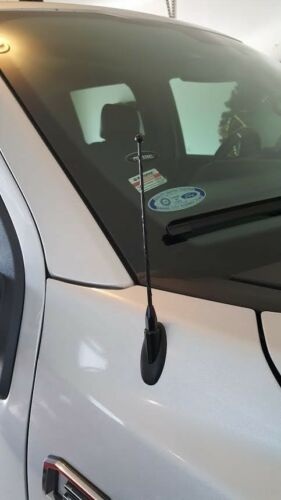 "09-19 Dodge Ram Truck 1500 7/"" Black Spring Stainless AM//FM Antenna Mast Fits"