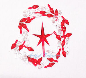 Red Medium Modern Ceramic Christmas Tree Star