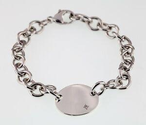 Ben-Bridge-Sterling-Silver-Diamond-Solitaire-Tag-Bracelet-Gorgeous