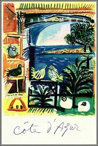 Art Deco 1930s Travel Poster Bandol Cote d/' Azur French Riviera Vintage Retro