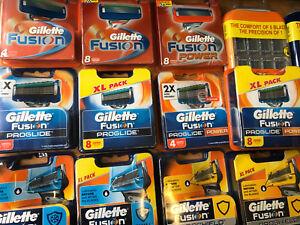 Cuchillas-Gillette-Fusion-Proglide-polvo-PROSHIELD-Razor-CARTUCHO-Elegir