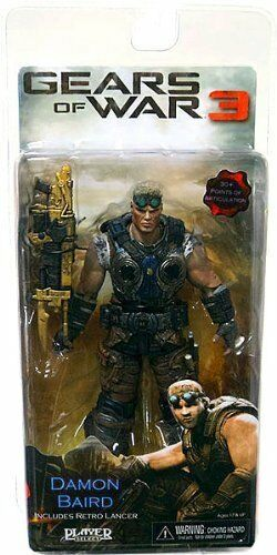 GEARS OF WAR 3 SERIES 2  DAMON BAIRD VARIANT GOLD LANCER ACTION FIGURE BY NECA