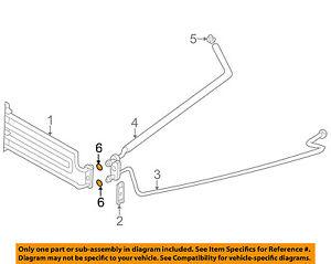 BMW OEM 08-14 X6 4.4L-V8 Transmission Oil Cooler-Outlet tube o-ring 17211742636