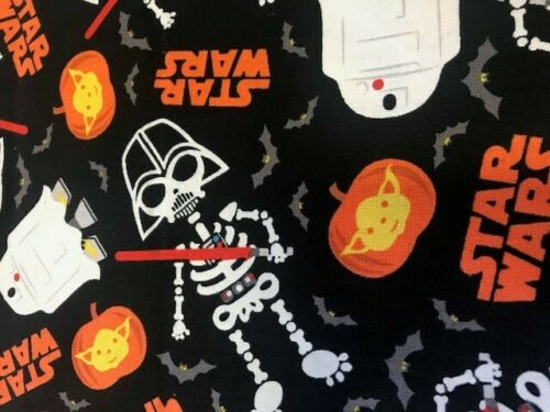 SPECIAL EDITION glow in the dark star wars fabric fat quarter cotton craft black