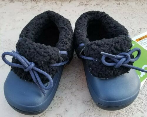 NWT $60 CROCS Blitzen Luxe Convertible Clog Navy//Black Toddler Boy Size US c6-c7
