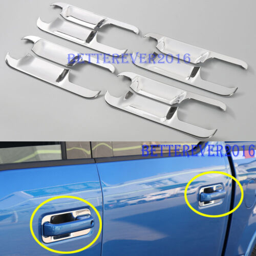 fits 2015-2019 Ford F-150 F150 4dr Crew Cab Door Handle Bowl Cover Trim Chrome