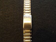 New old stock Enicar 18mm stainless steel deployment bands with square ends