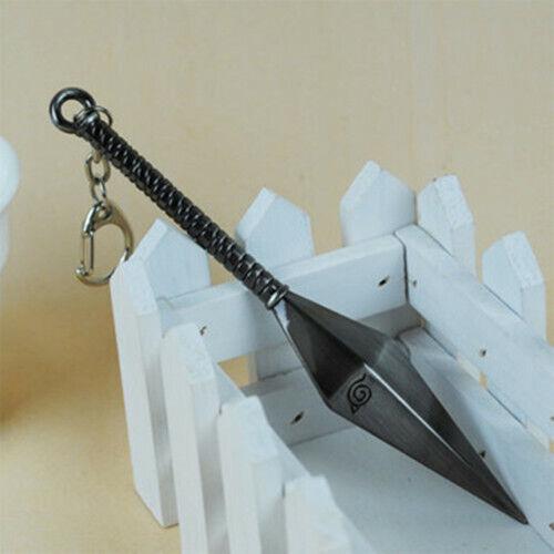 Naruto Metal Kunai Keychain Key Ring Pendant Anime Cosplay Gifts