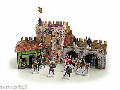 Building CORNER TOWER War Games Terrain Landscape Scenery Middle Ages 25-28 mm .