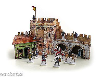 Building CORNER TOWER War Games Terrain Landscape Scenery Middle Ages 25-28 mm .