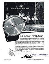 PUBLICITE MIDO MONTRE OCEAN STAR POWERWIND DANSEUSE DE 1960 FRENCH AD ART DECO