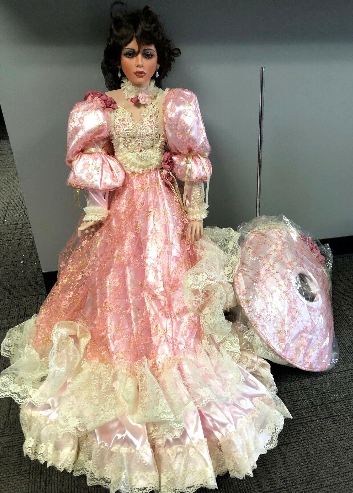Vintage Nuevo en Caja 42  Rustie 1998 Shenandoah Vestido rosado Southern Belle Muñeca De Porcelana
