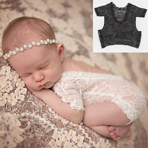 c595e3ba68 Image is loading Newborn-Infant-Baby-Girls-Floral-Lace-Romper-Bodysuit-