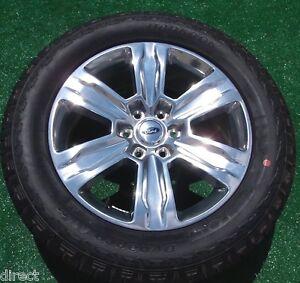 new 2016 oem factory ford f150 platinum polished 20 inch wheels tires expedition. Black Bedroom Furniture Sets. Home Design Ideas