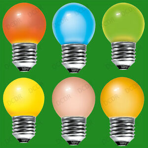 Image is loading 10x-15W-Coloured-Round-Golf-Ball-Light-Bulbs-