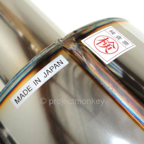 "HKS 34002-AK007 Hi Power Universal Exhaust Muffler Polished 65mm 2.5/"" Inlet JDM"
