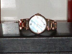 Pre-Owned-Women-s-Anne-Klein-Mother-of-Pearl-Diamond-AK-1918-Quartz-Watch