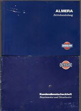 deutsche Betriebsanleitung NISSAN ALMERA Handbuch Ausgabe 1997