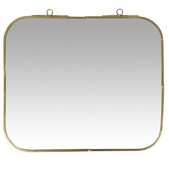 Wall Hanging Square Mirror With Cut Edges by Ib Laursen