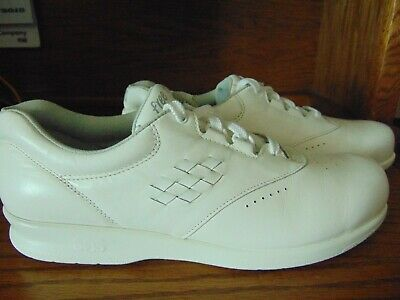 Size 9s Strengthening Waist And Sinews Steady Sas Free Time Tripad Comfort Women's White Leather Oxford Shoes New