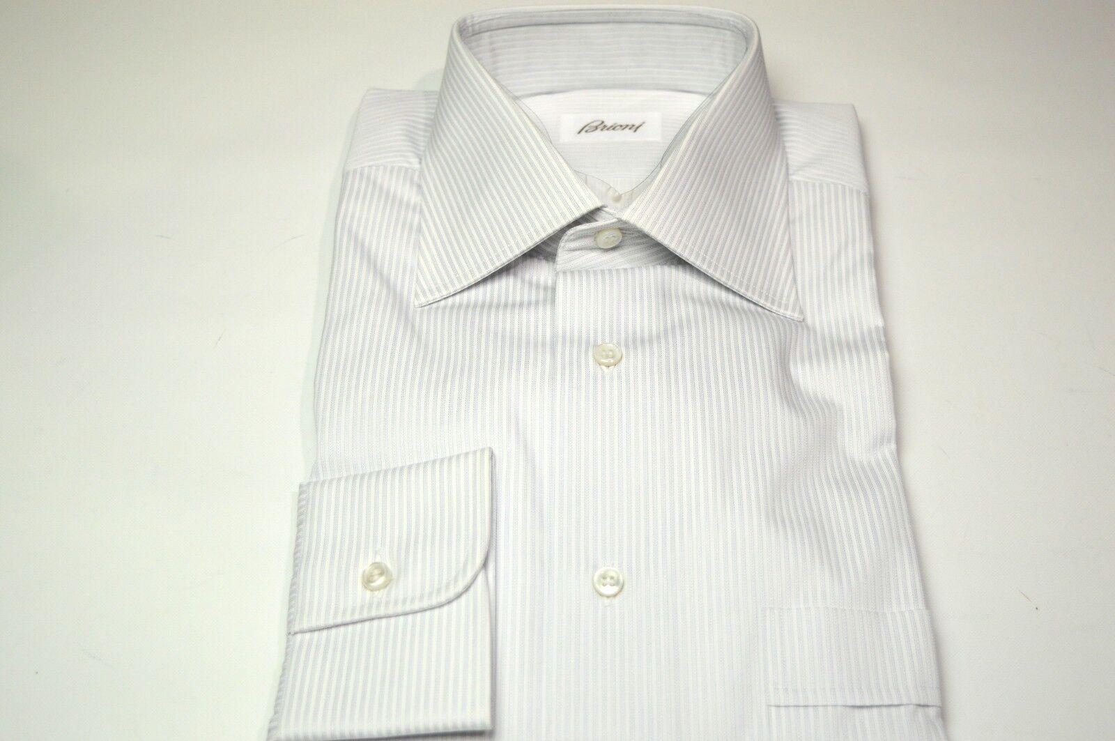 NEW  BRIONI Dress  SHIRT 100% Cotton Size 15.75 Us 40 Eu  (ARA48)