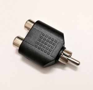 Conector-Adaptador-Audio-Doble-RCA-Hembra-RCA-Macho