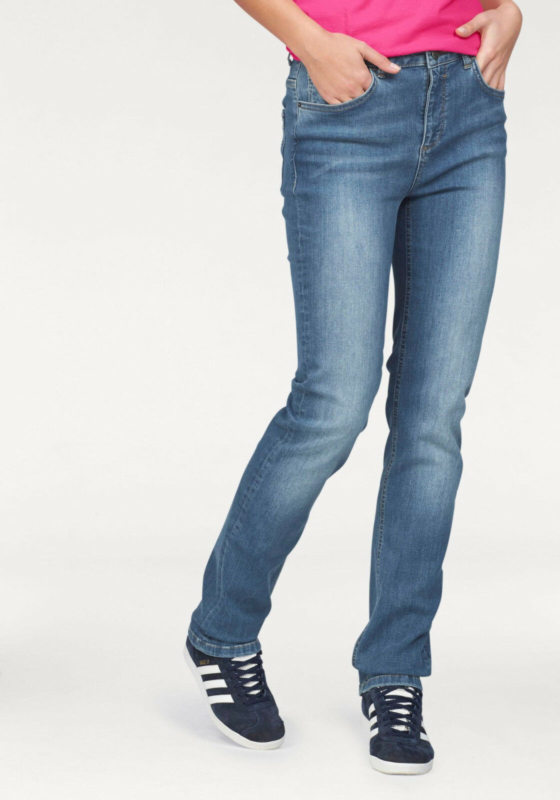 Details zu H.I.S 5 Pocket Jeans »Marylin«, lt blue used. Gr. 34. NEU!!! KP 79,95 €