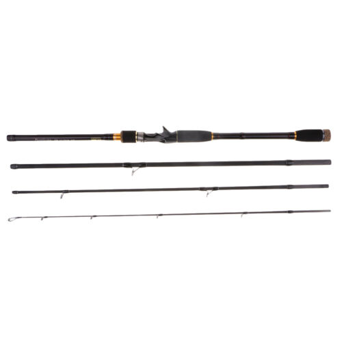 4 Sections Carbon Fiber Baitcast Surf Casting Rod Travel Fishing Pole 9 FT