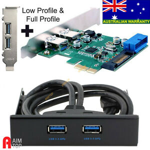 4-Ports-USB-3-0-Card-with-3-5-034-USB-3-0-Front-Panel-Bay-Combo-Low-amp-Full-Profile