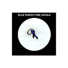 BLUE Rhinestone RIBBON  Nail Art Dangle Jewelry