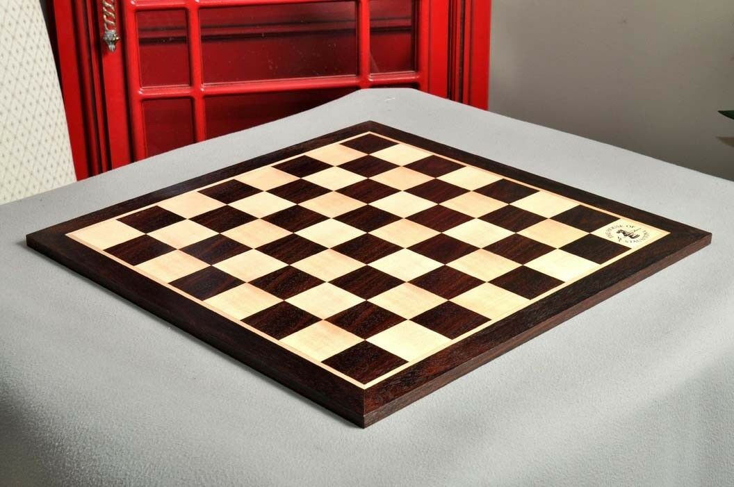 Indian rosawood & Maple Wooden Chess Board - 2.25  With Logo