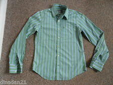 Abercrombie&Fitch shirt size S long sleeve striped green/white/blue