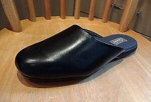 Clarks para Black cuero Nuevo Zapatillas Harston hombre de Carpet Mule Zapatillas de gamuza d0qg16