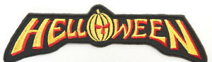 HELLOWEEN-Patch-12cm-Embroidered-Iron-on-Badge-Music-Pumpkin-Logo-Jacket-Bag-Hat
