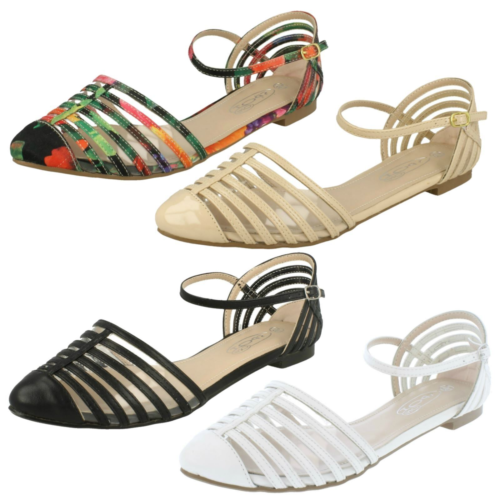 Ladies  Buckle Sandals Fastened Casual Sandals Buckle Spot On 778fd9