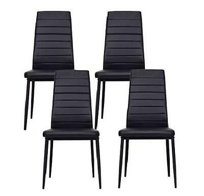 Set of 4 PU Leather Elegant Design Dining Chairs Home ...