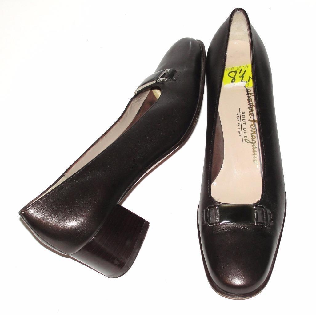 Salvatore Ferragamo  CUIR  Cocktail  carrière Bureau Classique Escarpins chaussures  8.5 2 A