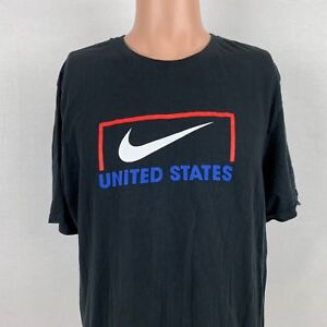c0f6e21758b Nike Team United States Soccer Goal T-Shirt XL Black Swoosh USA ...