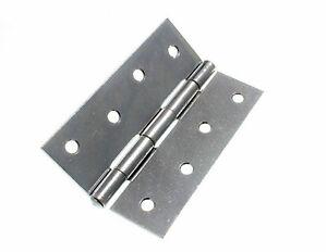 Lot 2 x Butt Charnières BZP Acier 100 mm 4 in (environ 10.16 cm) avec vis