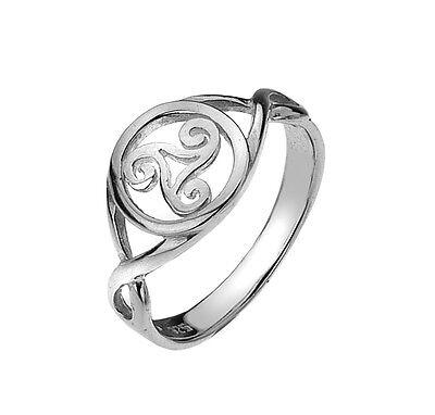 Sea Gems Sterling Silver Celtic Triskele Ring