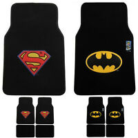 Dc Comics Batman/superman Emblem Logo Car Floor Mats 4pcs Set