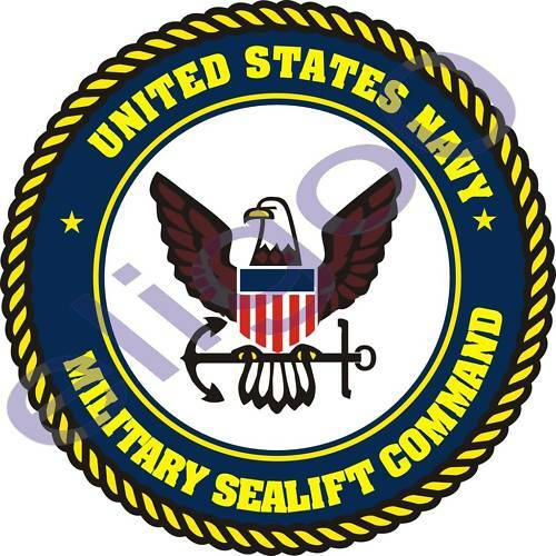 1x STICKER US NAVY SEALIFT COMMAND UNITED STATES decal