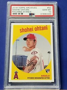 Shohei-Ohtani-2018-Topps-Archives-Pitching-Stance-PSA-10